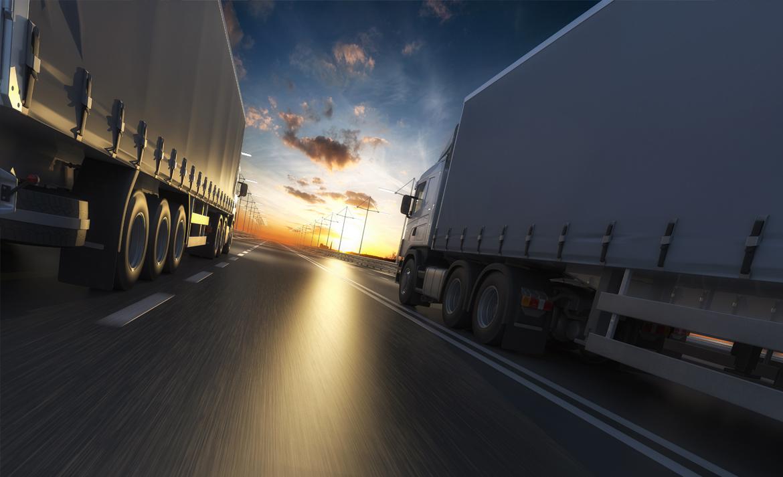 Trucks on Route