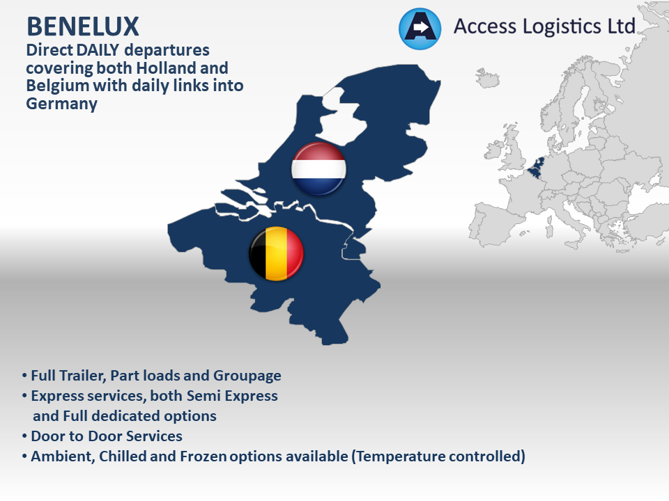 Benelux Map Image
